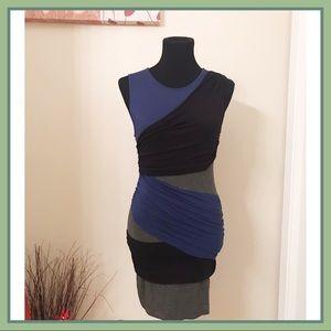 Mango Color-Block Mini Dress